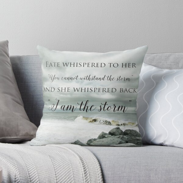 Fate Whispered to Her Throw Pillow