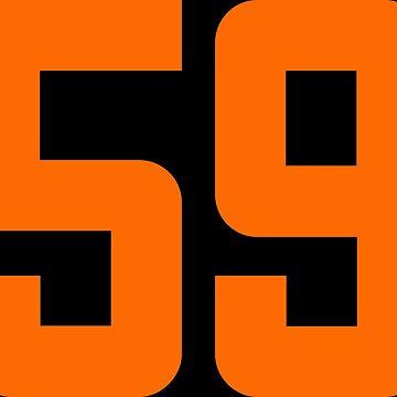 Orange Number 59 by wordpower900