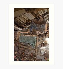 Old dilapidated chair Art Print