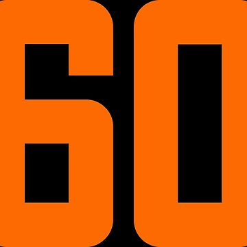 Orange Number 60 by wordpower900