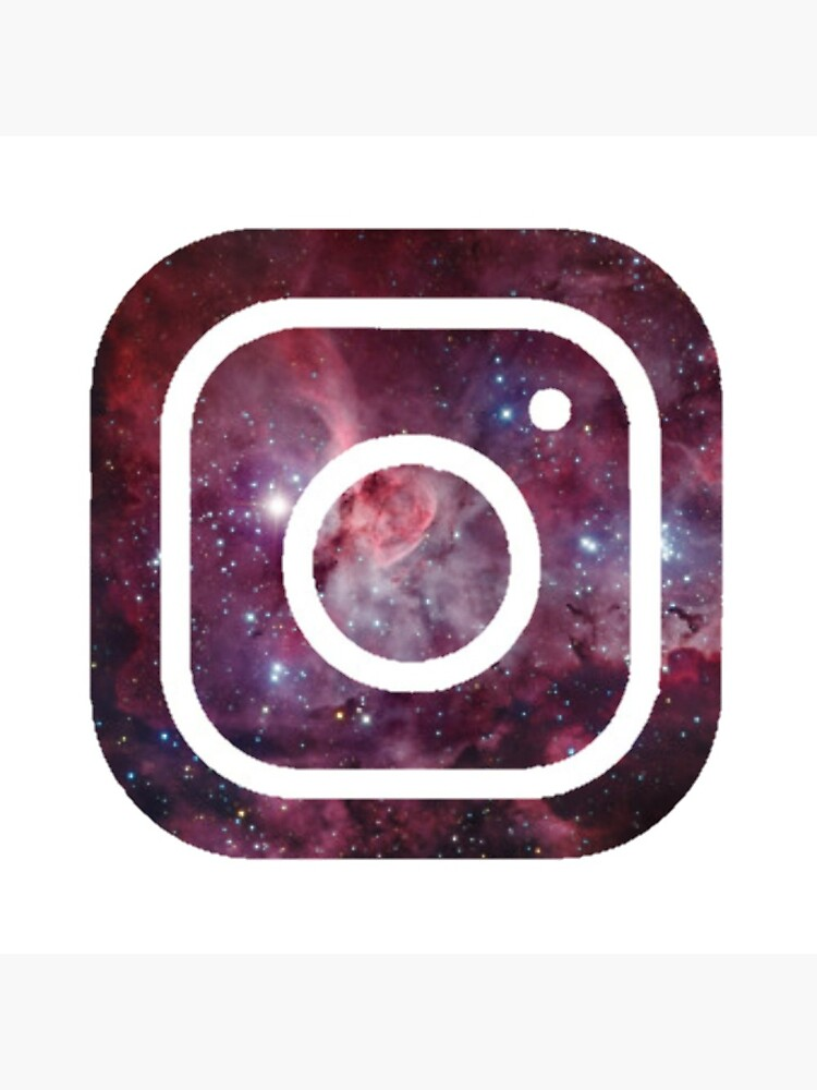Galaxy Instagram Logo Greeting Card By Manzae Redbubble