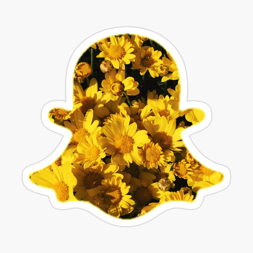 Floral Snapchat Logo Greeting Card By Manzae Redbubble