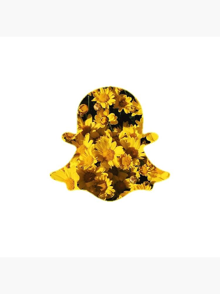 Floral Snapchat Logo Greeting Card By Manzae Redbubble