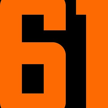 Orange Number 61 by wordpower900
