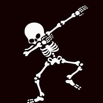 Dabbing Skeleton Dab Dabber Skull Cool Halloween Costume by Merchking1