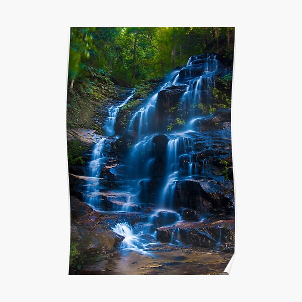 Sylvia Falls, Blue Mountains Poster