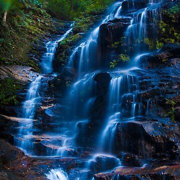 Sylvia Falls, Blue Mountains by eschlogl