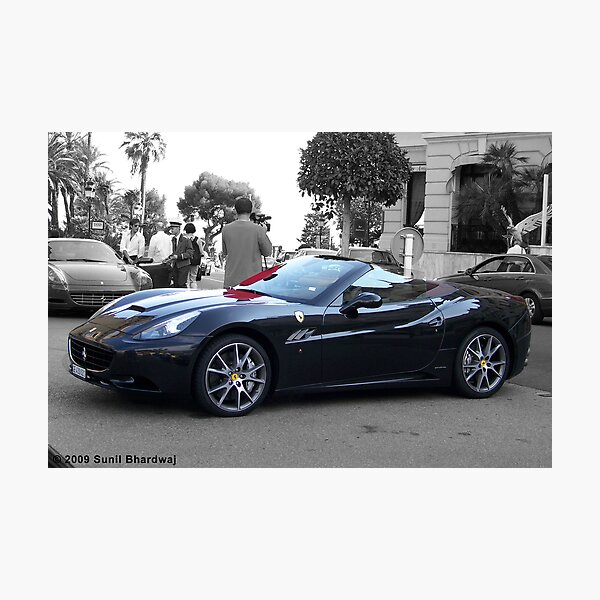 Black Ferrari California  Photographic Print