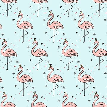Flamingos with Crowns cute funny pink girly fun sexy pattern by decentdesigns