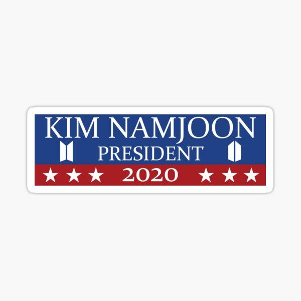 ¡Kim Namjoon para el presidente 2020! Pegatina