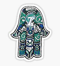 Tulane Hamsa Sticker