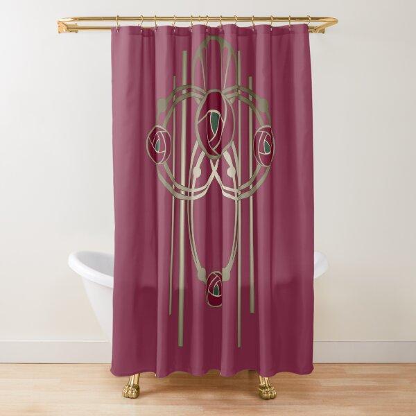 Art Nouveau Rose Gold Shower Curtain