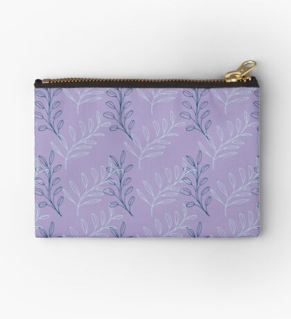Homeland Flora Floating Leaves in Lilac Studio Pouch