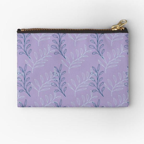 Homeland Flora Floating Leaves in Lilac Zipper Pouch