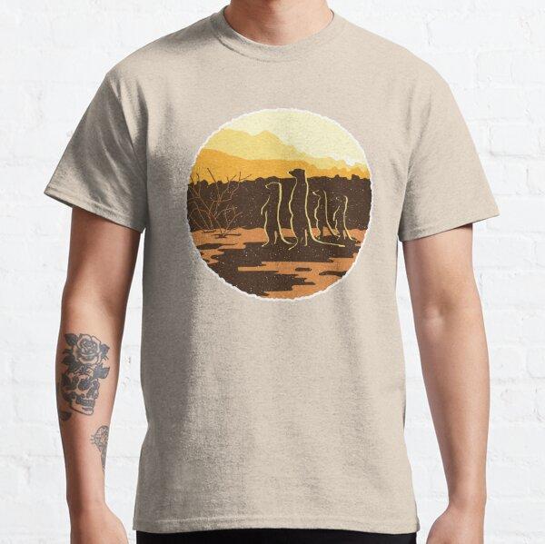 Meerkat Sunset Desert Scene Classic T-Shirt