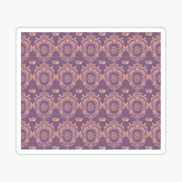 Castlefield Monogram Crest Pink & Lavender Sticker