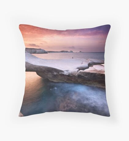 Sarakiniko Throw Pillow