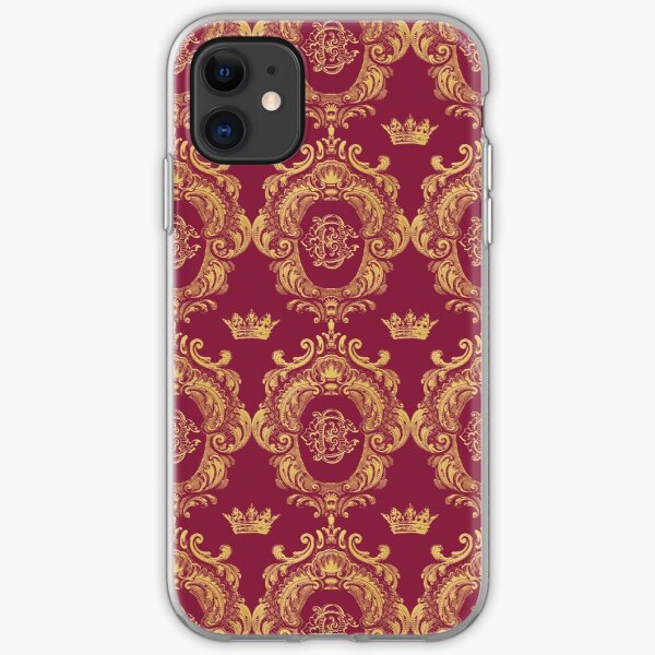 Castlefield Monogram Crest Red & Gold iPhone Soft Case