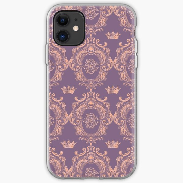 Castlefield Monogram Crest Pink & Lavender iPhone Soft Case