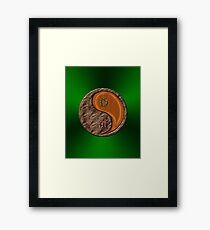 Taurus & Tiger Yang Wood Framed Print