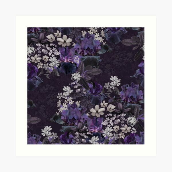 Lalia Dark Floral Art Print