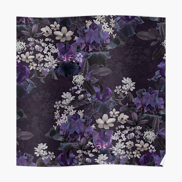 Lalia Dark Floral Poster