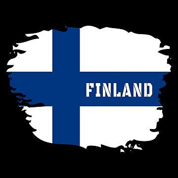 Finland flag Scandinavia gift by Rocky2018