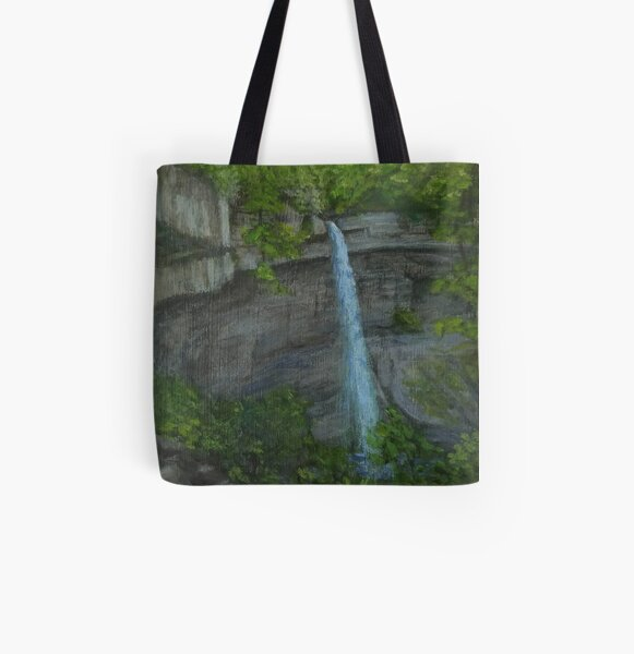 Carpenter Falls by Laura Jaen All Over Print Tote Bag