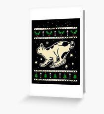 Christmas Japanese Bobtail Cat Gift Greeting Card