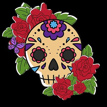 Sugar Skull Roses by Nangka
