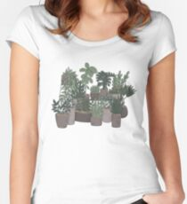 mini garden Women's Fitted Scoop T-Shirt