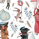 Lantern parade - Snow by Willmanannie