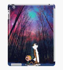 calvin and hobbes nebula night iPad Case/Skin