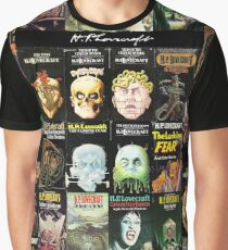 H P Lovecraft Covers Graphic T-Shirt
