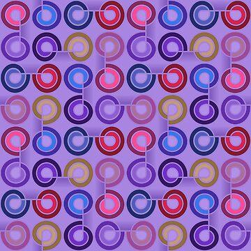 Pattern Cut Spirals - Purples. by timothybeighton