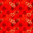 Decorative design with hearts by starchim01