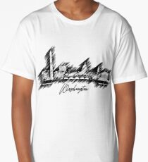 Washington graphic scribble skyline  Long T-Shirt
