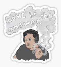 Love Is The Answer - Elon Musk Sticker