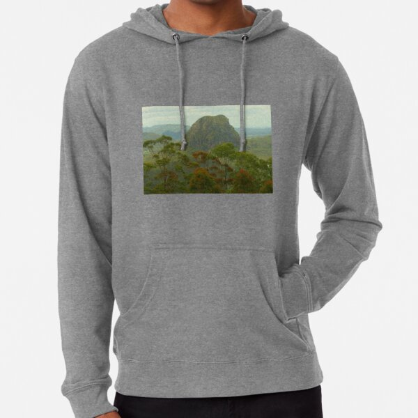Mount Tibrogargan in the Glasshouse Mtns Lightweight Hoodie