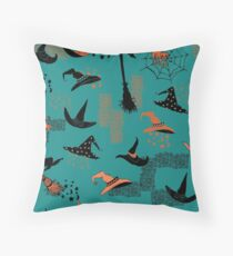 Halloween Witch Hats Throw Pillow