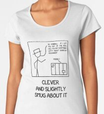 Xkcd: Clever and slightly smug about it Women's Premium T-Shirt