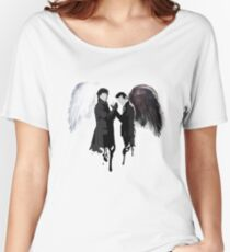 On the Side of the Angels Women's Relaxed Fit T-Shirt
