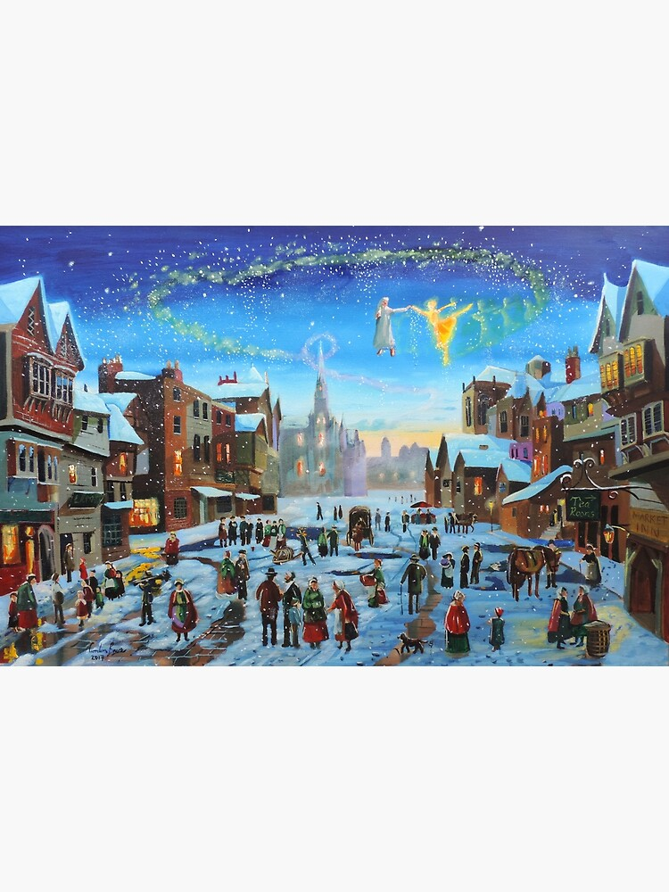 A Christmas Carol Scrooge and the ghost of Christmas past by gordonbruce