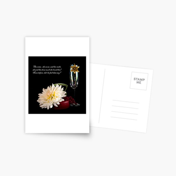 THE BROACH AND THE DALHIA Postcard