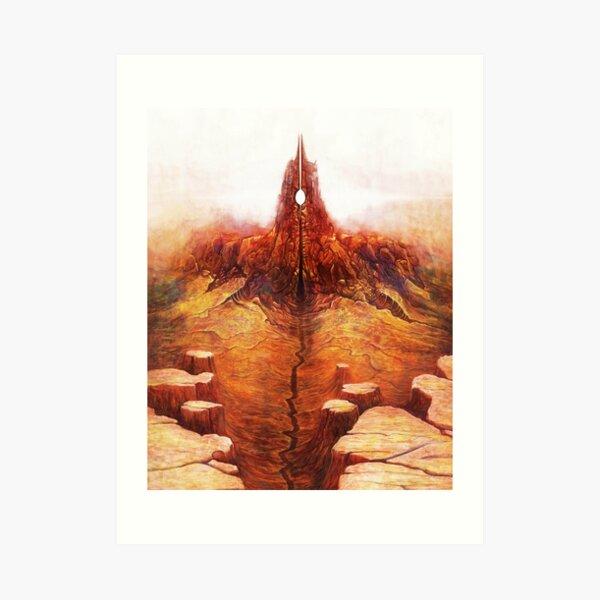Tribute to Beksinski 2 Art Print