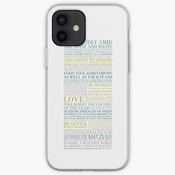 Desiderata by Max Ehrmann (Multi-coloured) iPhone Soft Case