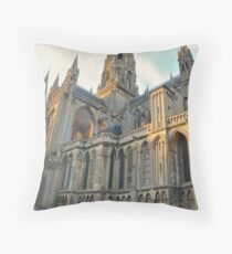 Bayeux Cathedral Throw Pillow