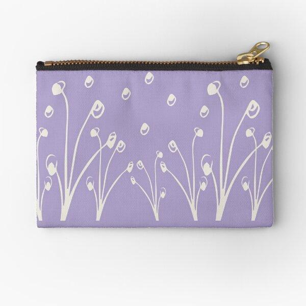 Homeland Flora Alliums in Lilac Zipper Pouch
