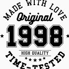 Birthday 20 year Gifts 1998 Made With Love Original T-Shirt by artbaggage