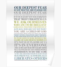 Unsere tiefste Angst von Marianne Williamson (mehrfarbig) Poster